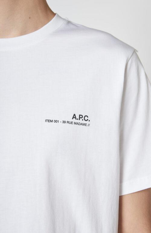 """Weißes T-Shirt """"Item"""" mit Logo Print"""