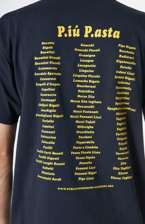 "Dunkelblaues T-Shirt ""Piu Pasta"""