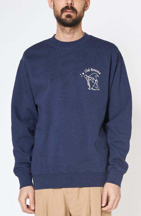 """Dunkelblauer Sweater """"I Druidi"""" mit Rundhalsausschnitt"""