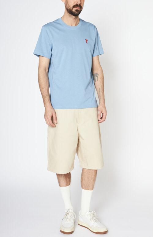 Hellblaues T-Shirt mit rotem Ami de Coeur Herz