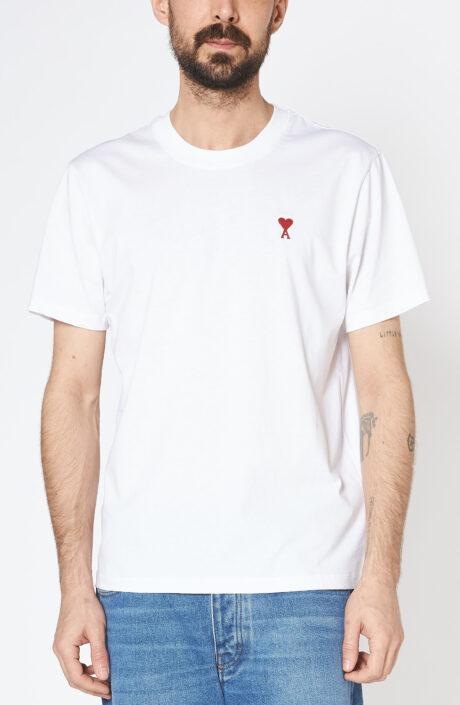 Weißes T-Shirt mit rotem Ami de Coeur Herz