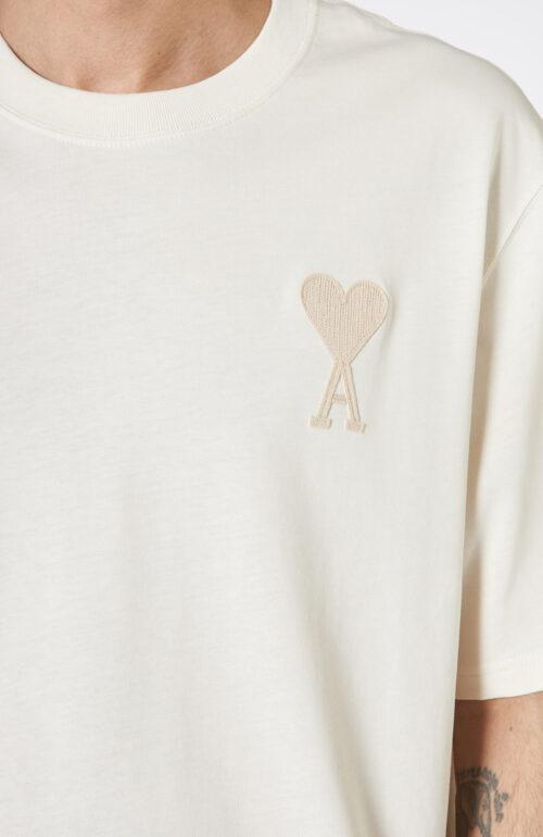 Cremeweißes T-Shirt mit Herz