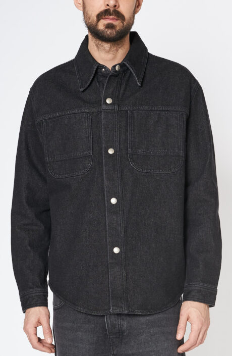 Schwarzes Denim Hemd