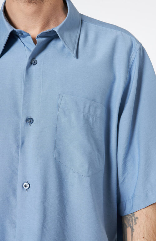 Blaues Kurzarm Hemd