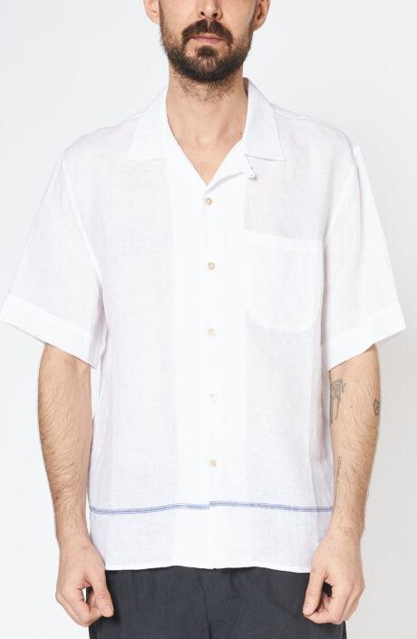 """Weißes Kurzarmhemd """"Gioia"""" mit Brusttasche"""