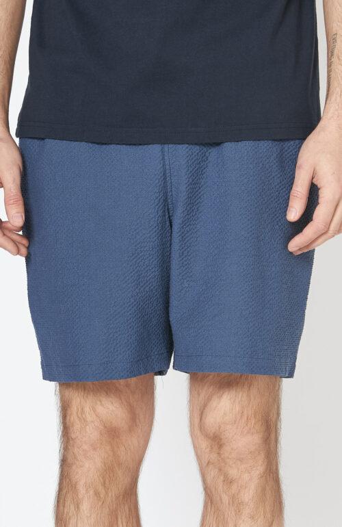 """Blaue Bade-Shorts """"Volta"""" aus Seersucker"""