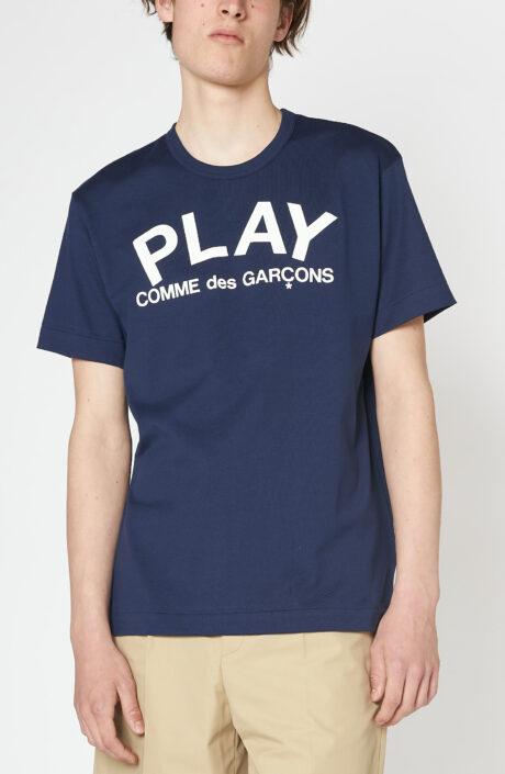 """Dunkelblaues T-Shirt """"Play"""" mit Logoprint"""