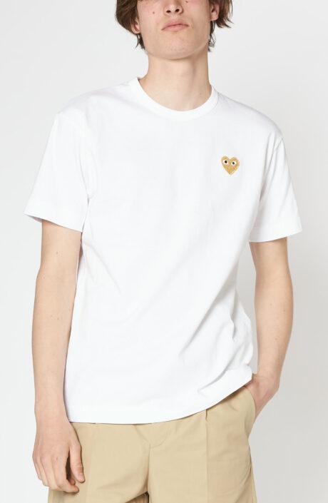 Weißes T-Shirt mit goldenem Herz
