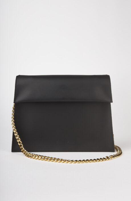 """Schwarze Tasche """"AB81"""" aus Leder"""