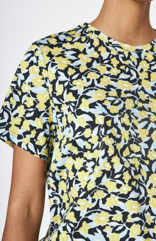 "Dunkelblaues Top ""Tempa"" mit floralem Print"