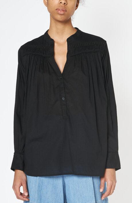 Schwarzes Top Clarys aus Baumwolle