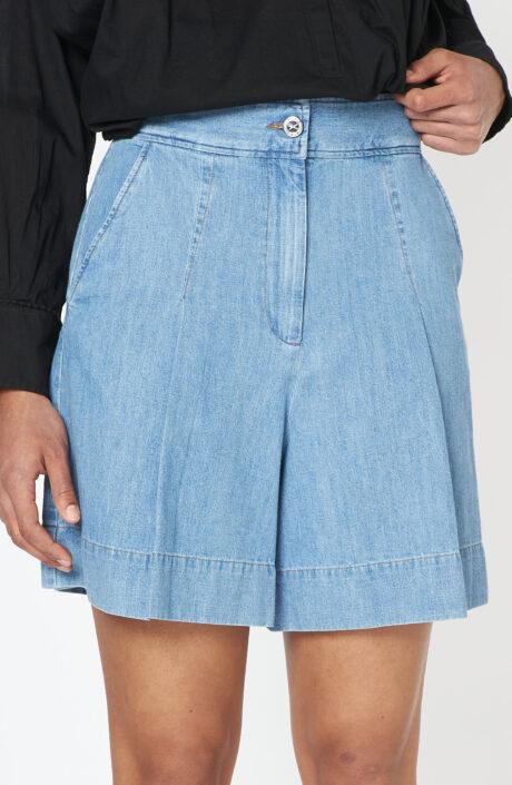 """Hellblaue Shorts """"Dayana"""" mit hohem Bund"""