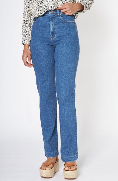"""Blaue Jeans """"Spring"""" mit hohem Bund"""