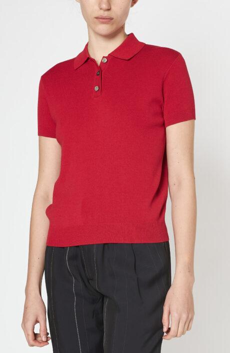 """Rotes Poloshirt """"Mathilda"""""""