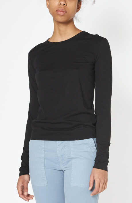 """Langarm T-Shirt """"Essential"""" in schwarz"""