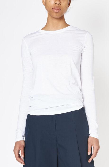 "Langarm T-Shirt ""Essential"" in weiß"