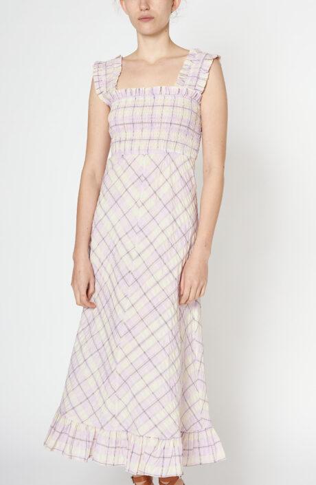 """Kariertes Kleid """"Seersucker check"""" in rosa"""