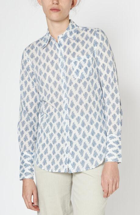 "Weiße Paisley Bluse ""NL Shirt"""