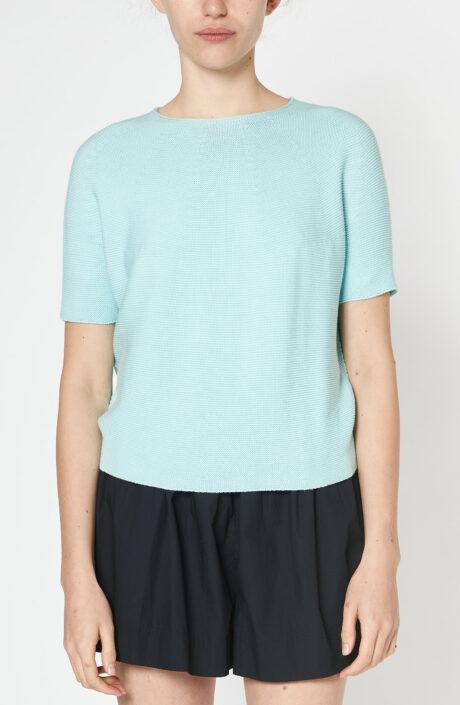 """Aqua-grüner Pullover """"Karim mit kurzem Arm"""