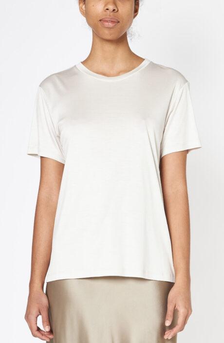 """T-Shirt """"Parc Monceau"""" aus Rayon-Seide Mix in greige"""