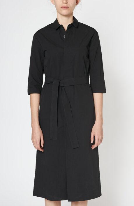 """Schwarzes Kleid """"Apron"""" aus Baumwolle"""