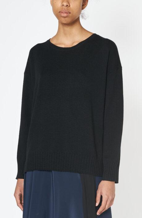 """Schwarzer Pullover """"Boyfriend Sweater"""" aus Kaschmir"""