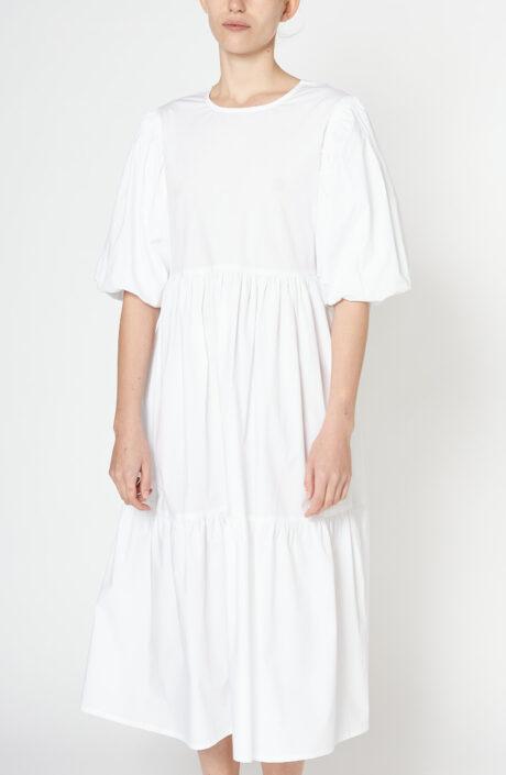 """Weißes Kleid """"Leoni"""" aus Baumwolle"""