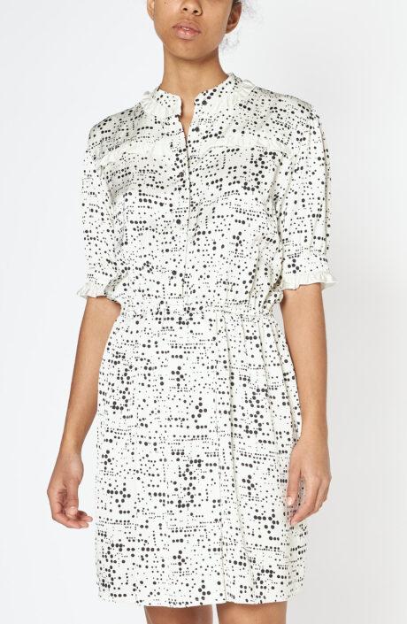 """Weißes Kleid """"Garance"""" mit Print"""