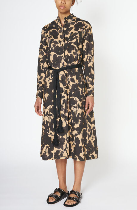 "Beiges Kleid ""Bonnie"" mit floralem Print"
