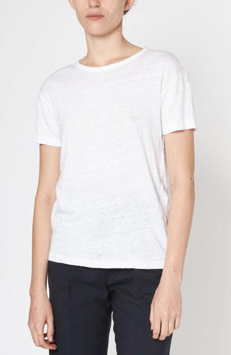 """Weißes T-Shirt """"Lara"""" aus Leinen"""