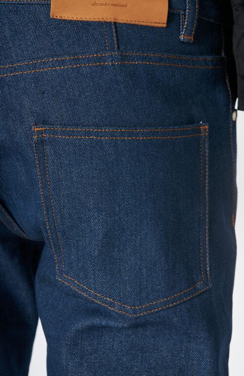 "Dunkelblaue Raw Denim Jeans ""Ami Fit"""