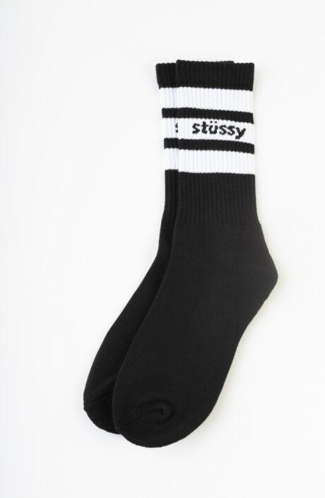 Schwarze Stüssy Sports Crew Socks