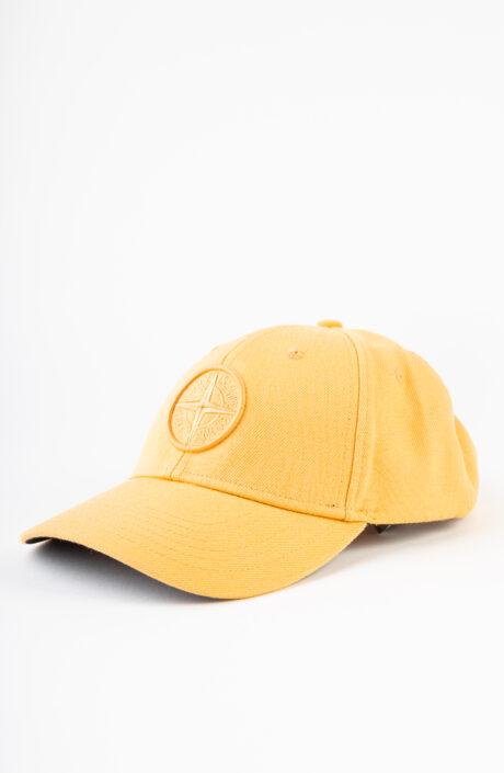 Orangefarbene Baseball Cap mit Logo