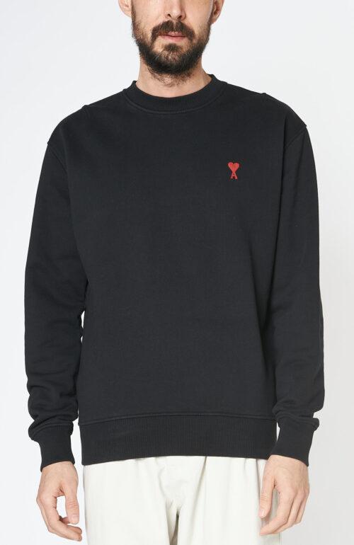 Schwarzer Sweater mit rotem Ami de Coeur Logo