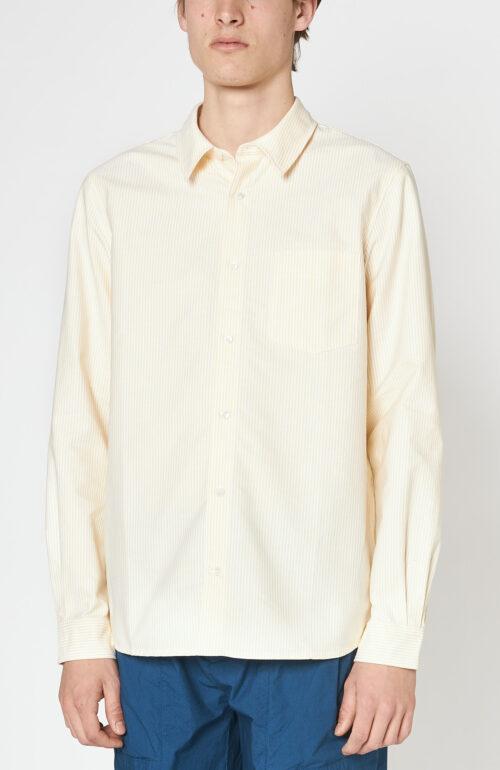 """Gelb-weiß gestreiftes Hemd """"92"""""""