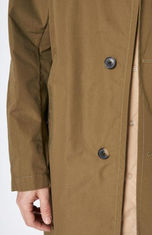 "Khakifarbener Mantel ""Roal"" mit klassischem Kragen"