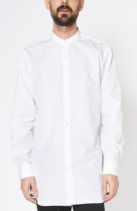 """Weißes Hemd """"Cole"""" mit Stehkragen"""