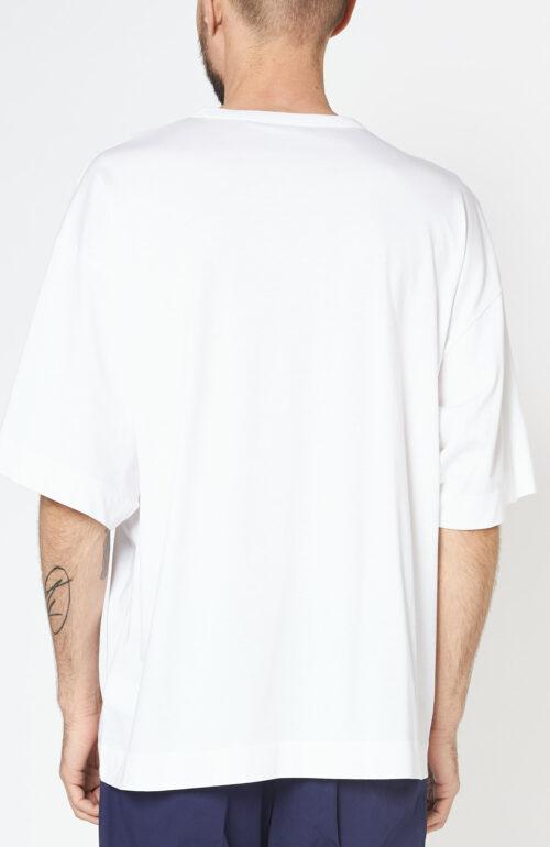 """Weißes T-Shirt """"Heky"""" mit Rundhalsausschnitt"""
