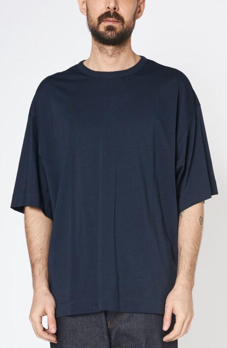 "Dunkelblaues T-Shirt ""Heky"" mit Rundhalsausschnitt"