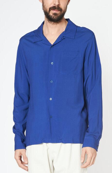 "Blaues Hemd ""Big Poppy Seed"""