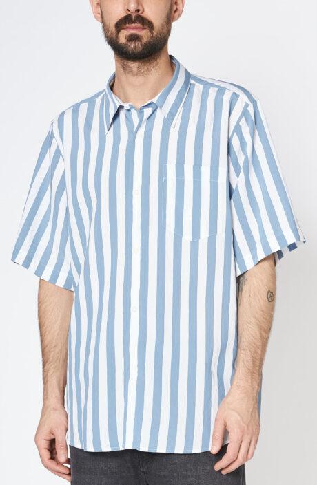 """Blau-weiß gestreiftes Hemd """"Summer-Fit"""" mit kurzem Arm"""