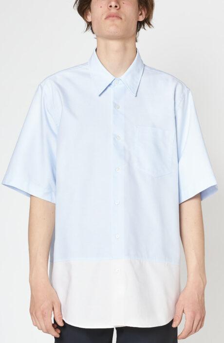 """Blaues bi-kolor Kurzarm-Hemd """"Summer Fit Shirt"""""""