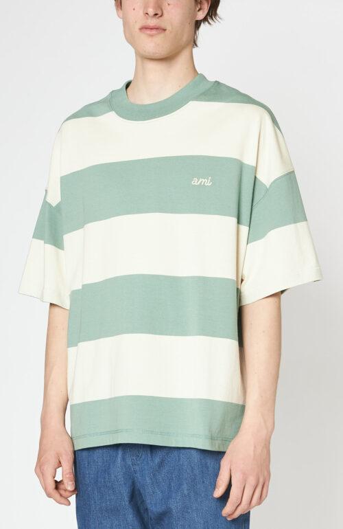 """Grün-weiß gestreiftes T-Shirt """"Rugby"""""""
