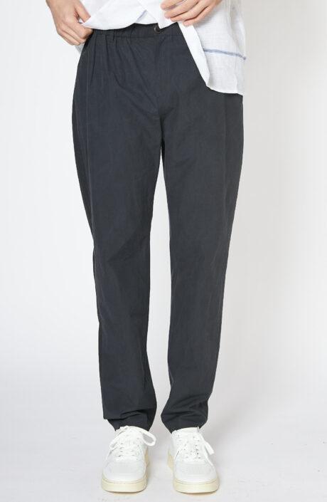"Dunbkelblaue Hose ""Elasticated Wide Trouser"""
