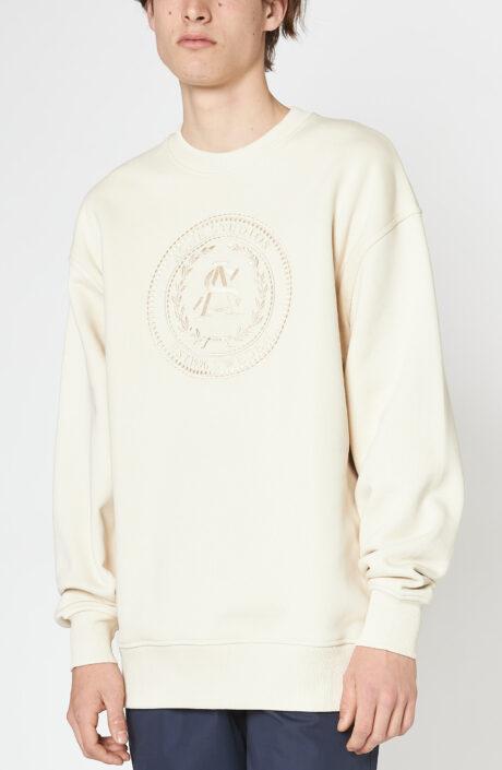"""Cremefarbener Sweater """"Forban"""" mit Logo-Stickerei"""
