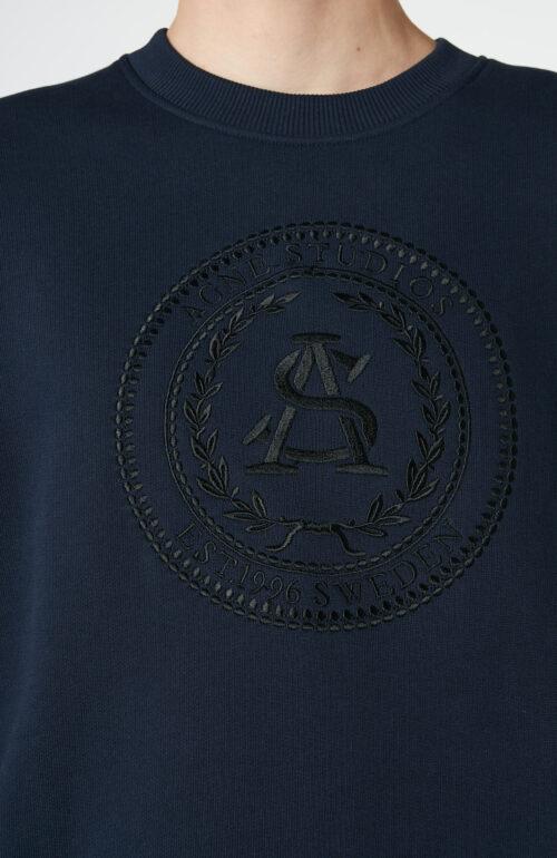"""Dunkelblauer Sweater """"Forban"""" mit Logo-Stickerei"""