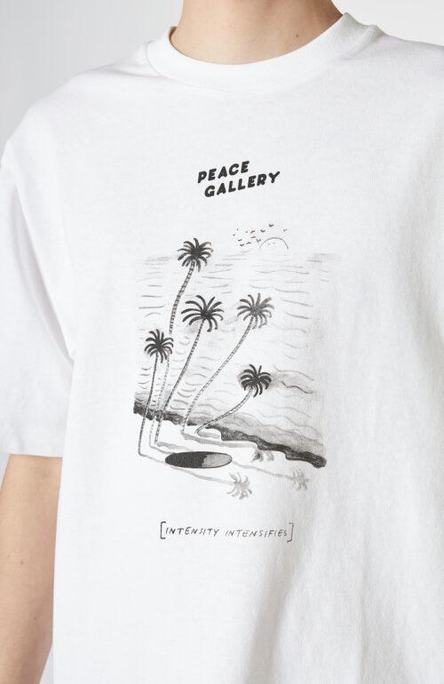 "Weißes T-Shirt ""Extorr Bar"" mit Print"
