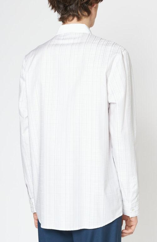 "Weißes Hemd ""Retirees"" mit Karomuster"
