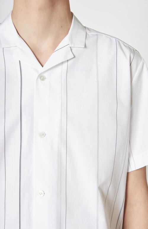 """Weißes Hemd """"Bus"""" mit feinen Streifen"""