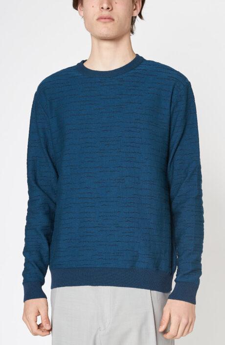 "Blauer Pullover ""Puzzles"""